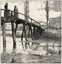 """W North """"The Four Bridges"""" Jean Ingelow's Poems, 1867 engraved by Dalziel Brothers"""