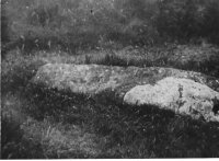 The Long Stone before re-erection